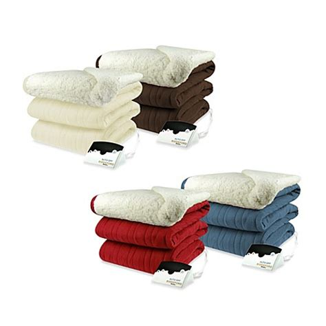 comfort knit heated blanket biddeford blankets 174 comfort knit heated blanket with