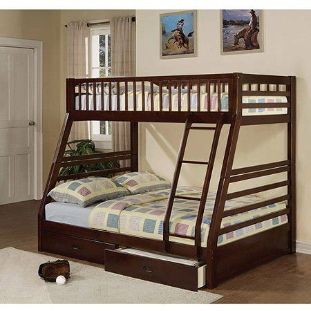 jason twin  full wood bunk bed espresso walmartcom