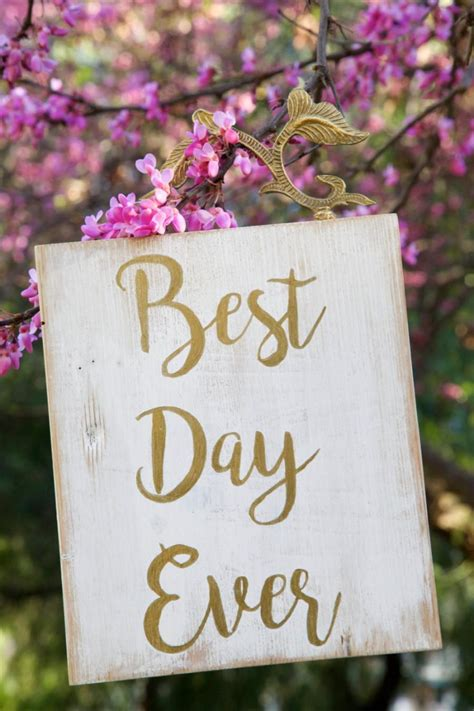 Wedding Quotes Signs by Sale Best Day Wood Sign Wedding Sign Wall
