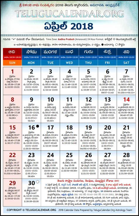 andhra pradesh telugu calendars  april
