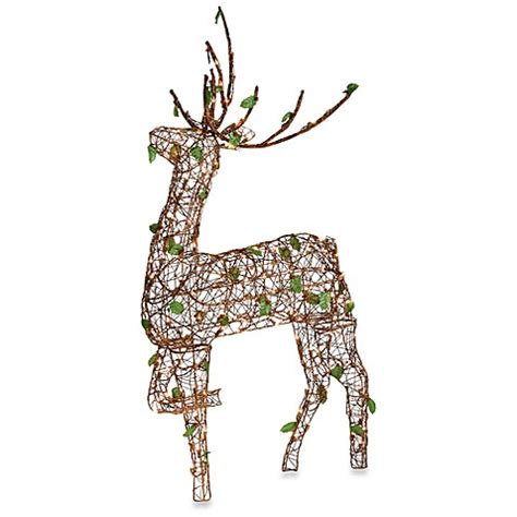 lighted grapevine reindeer bed bath beyond