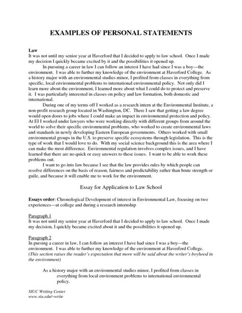 Personal Statement For Mba Scholarship by Mba Personal Statement Exles Practical Gallery Ideas Of