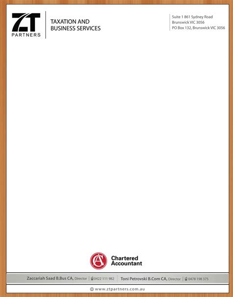 Business Letterhead Requirements Australia Letterhead Design For Toni Petrovski By Smart Design 3313809