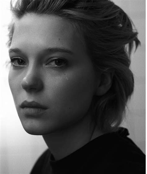 lea seydoux black and white androadiction style cheveux shit pinterest