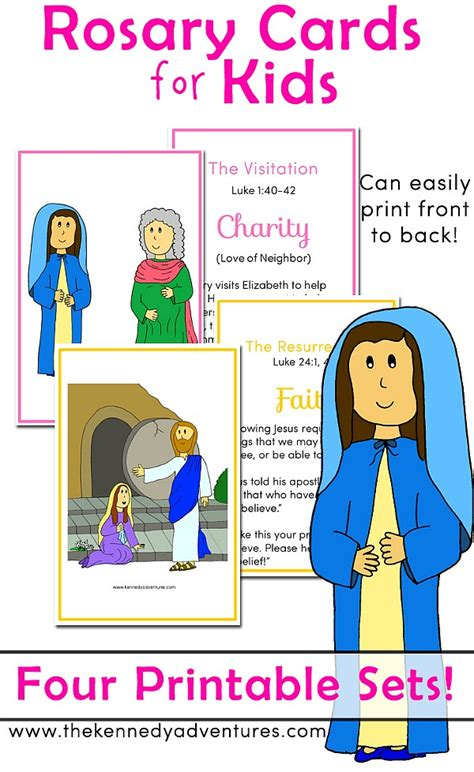 printable rosary cards perfect for saying a family rosary
