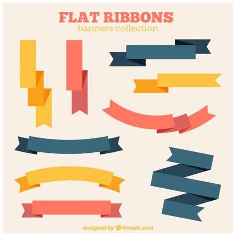 Flat Ribbon flat vintage ribbons vector free