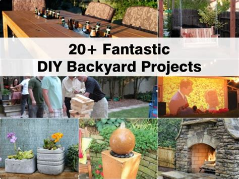 diy outside projects 20 fantastic diy backyard projects