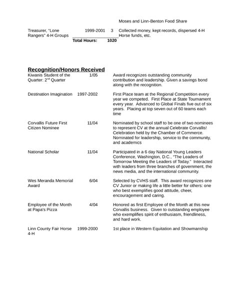 College Dishwasher Resume Template   page 4