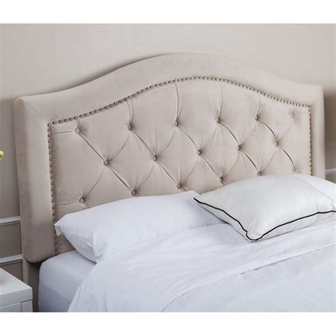velvet king headboard abbyson living ternton tufted velvet king california king
