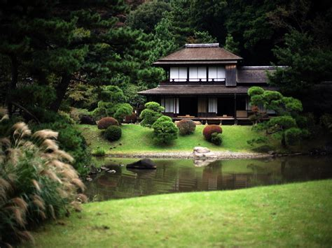 traditional japanese house and garden beautiful houses