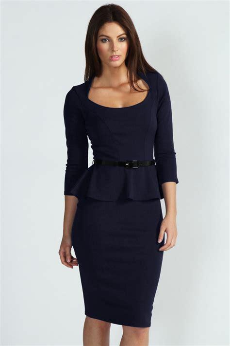 Midi Dress Gaun Bodycon Blue Two Pcs Xl 192303 Import Sale dear lover cheap blue sleeve belted peplum midi dress