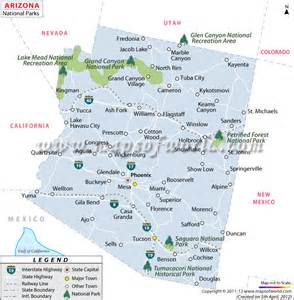 arizona state park map buy map of arizona national parks