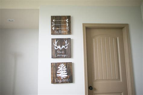diy nursery decor diy rustic woodland boy nursery decor
