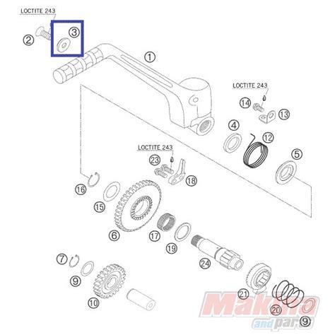 ktm parts diagram 54633037000 washer for kickstarter ktm exc sx