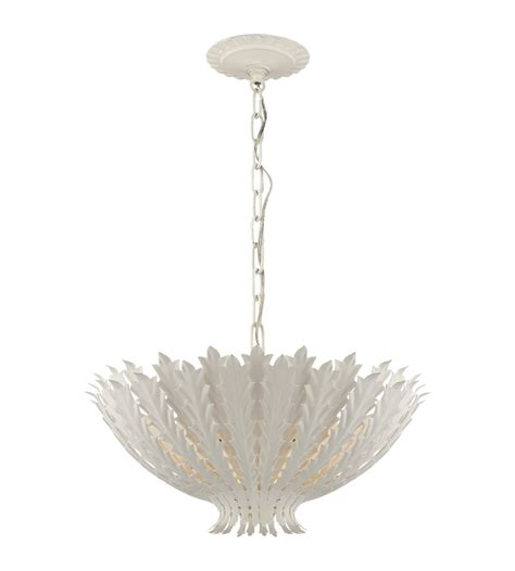 casual chandeliers visual comfort arn 5001pw aerin casual hton medium