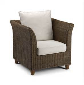 wicker chair brown conservatory furniture rattan