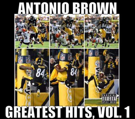 Antonio Brown Meme - antonio brown s wacky td celebration gets the meme