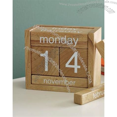 how to make a wooden calendar buy wooden perpetual calendar wholesale price