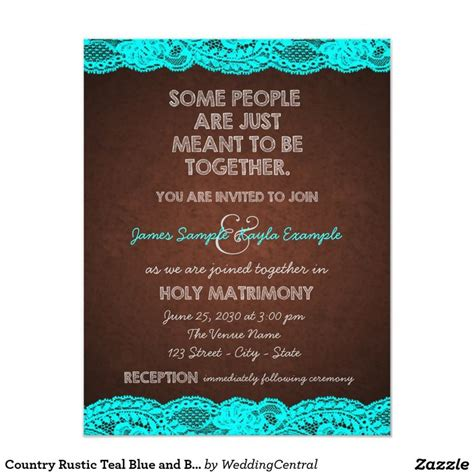 Brown Wedding Invitations by Brown And Turquoise Wedding Invitations Yourweek