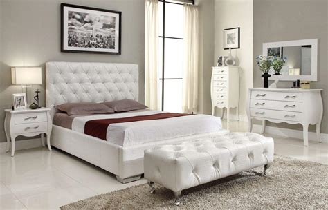 modern white bedroom set stylish leather high end elite furniture with extra