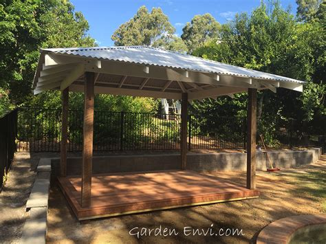 Hardwood And Pine Gazebo Gazebo With Metal Roof 600 Mm Patio Roofs And Gazebos