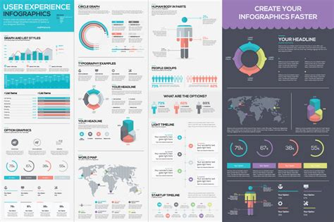 Infographic Mega Bundle Thousands Of Graphic Elements Only 24 Mightydeals How To Use Illustrator Templates