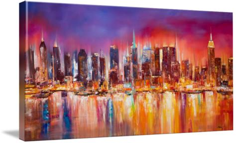 paint nite nyc customer service vibrant new york city skyline by mitchell nick
