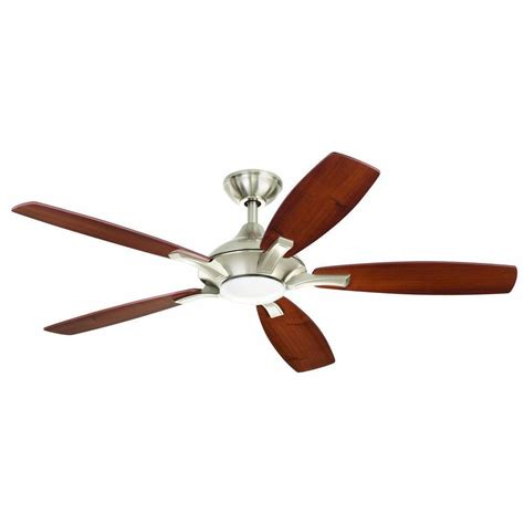 pictures of ceiling fans petersford 52 in led brushed nickel ceiling fan