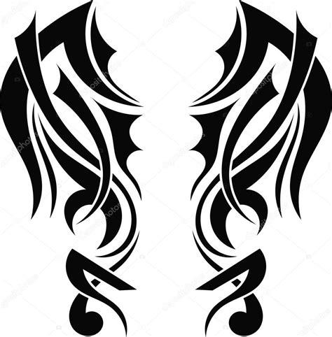 imagenes vectores tribales alas tribales tatuaje dise 241 o gr 225 fico vector de stock