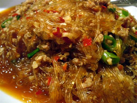 cellophane noodles  minced pork cooking  chillies recipe