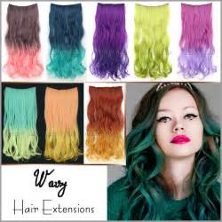 colorful extensions aliexpress buy 50cm 120g wavy curl clip in hair