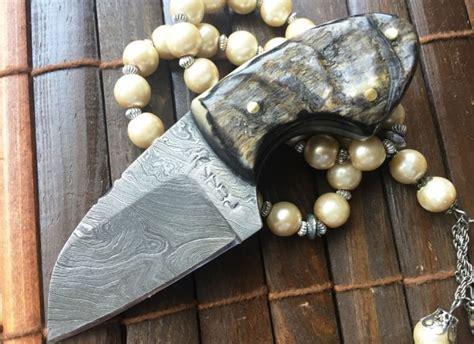neck knives for sale uk custom handmade damascus knife neck knife wnkr