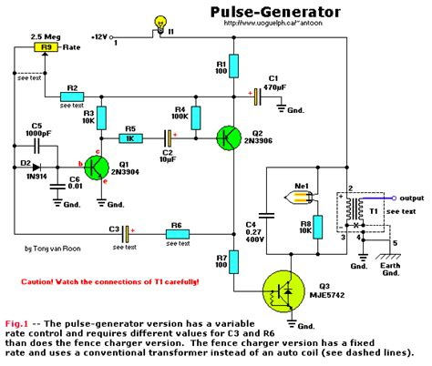 high voltage pulse generator diy high voltage pulse generator schematic rf