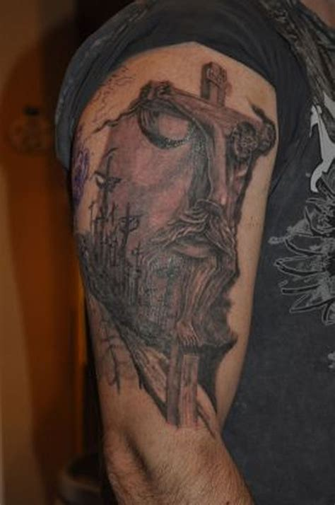 jesus tattoo using arm jesus pic on arm tattoo tattoos book 65 000 tattoos