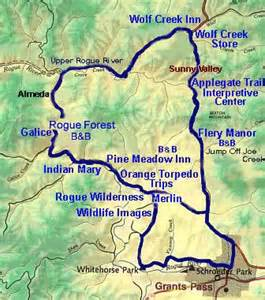 rogue valley oregon map rogue river loop historic