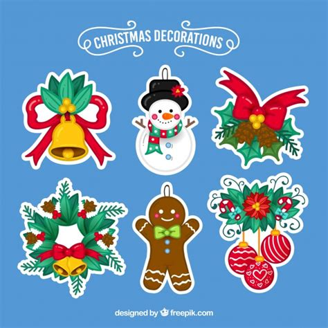 Stiker Natal Sticker 2 pack of stickers vector free