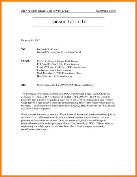Transmittal Letter For A Business 7 Letter Of Transmittal Format Attendance Sheet