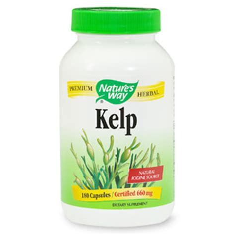 Gnc Kelp nature s way kelp 660mg with iodine capsules drugstore