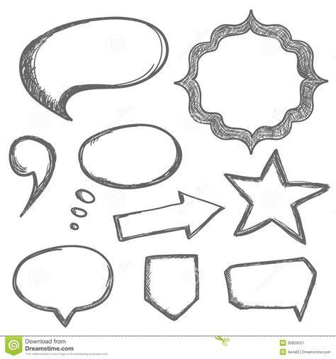 free doodle speech vector vector speech bubbles stock illustration