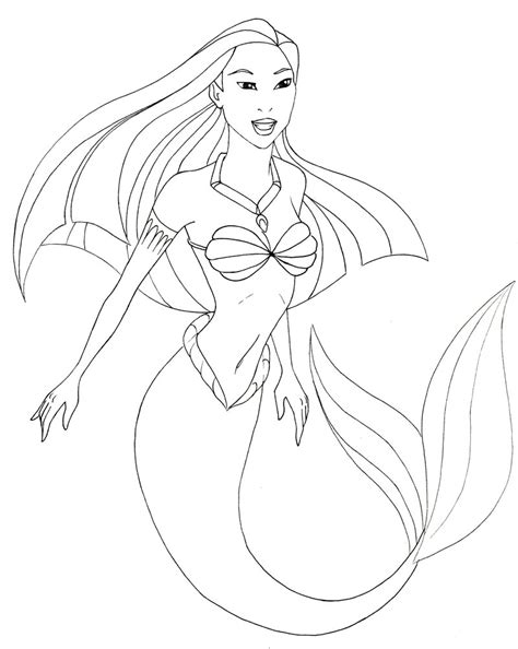 easy mermaid coloring pages image result for simple mermaid drawing prisma colour