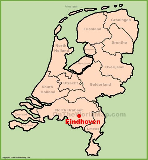 netherlands world map location eindhoven location on the netherlands map