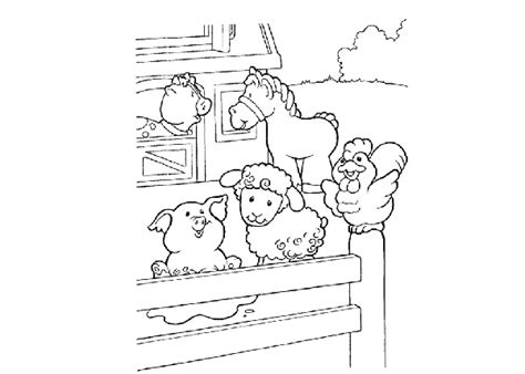 free coloring pages of baby animal farm
