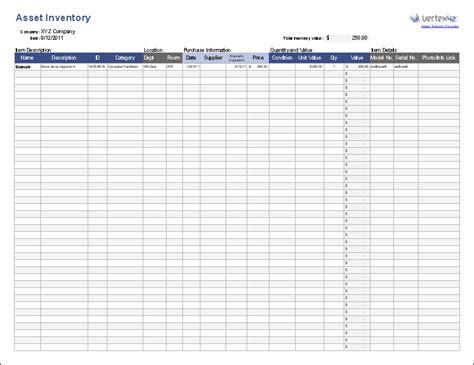 asset tracking template  excel  vertex