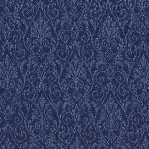 Find Upholstery by Sapphire Blue Small Floral Heirloom Damask Upholstery Fabric