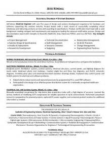 electrical design engineer resume sle objective for resume electrical engineer sle objective
