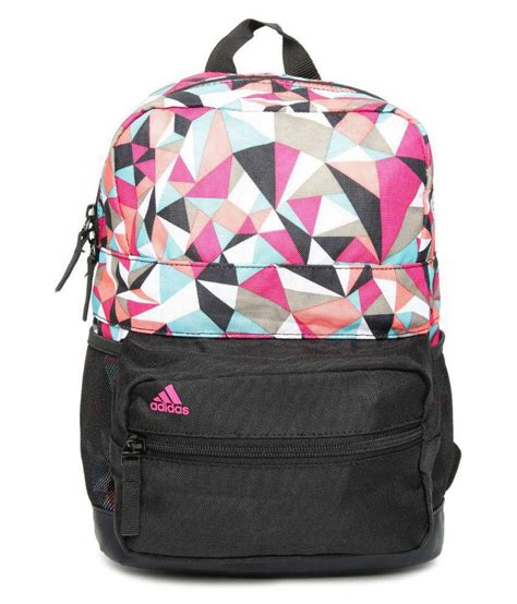 Adidas Printed In Pink by Adidas Unisex Black Pink Printed Graph Bag Buy Adidas