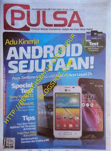 Mini 1 Tabloid Pulsa all in 1 update koran majalah dll tabloid pulsa edisi