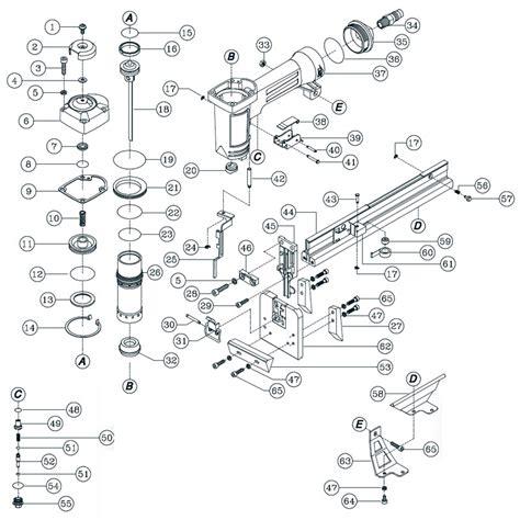 floor parts diagram porta nails 461a floor stapler parts qepparts