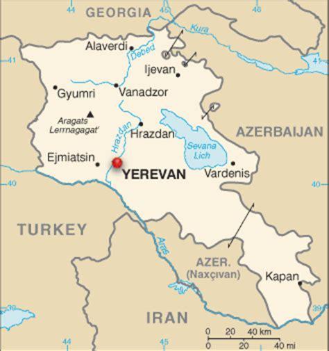 russia map armenia where is yerevan armenia on the map