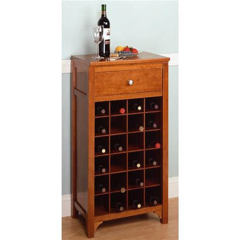 Home Bar Design Plans by Winsome 174 Regalia 24 Bottle Wine Cabinet 151319
